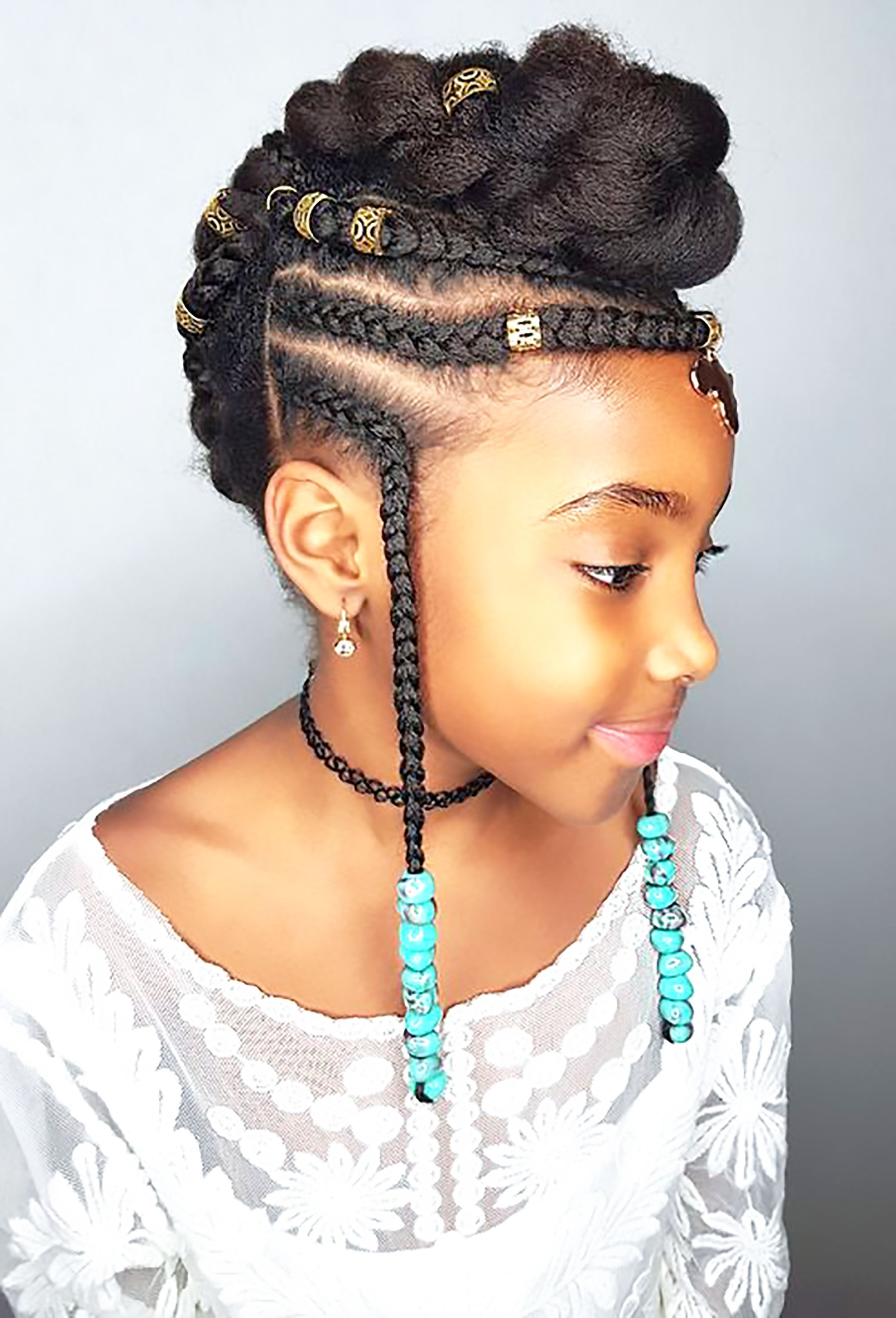 43 Best Braided Ponytail Hairstyles for 2019   Page 4 of 4   StayGlam #Braidedponytail # fulani Braids ponytail # fulani Braids ponytail
