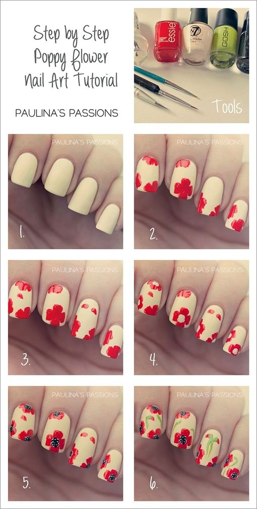 Lovely Nail Tutorials For Spring Flower Nail Art Flower Nails And
