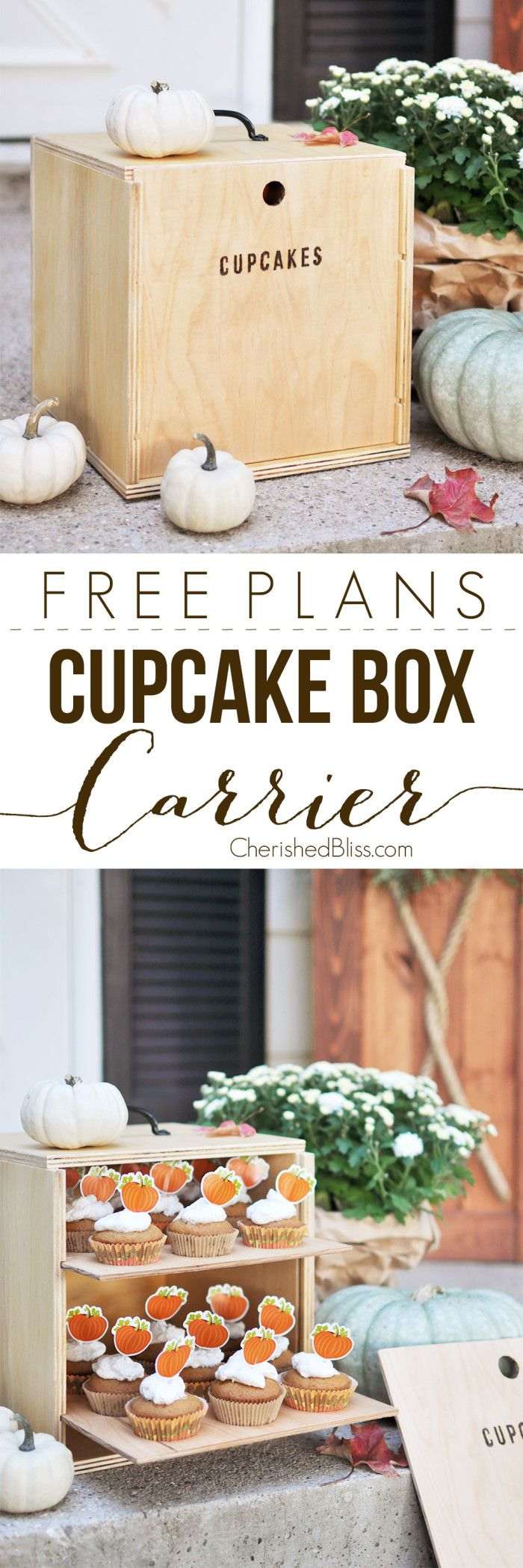 DIY Cupcake Box Carrier Tutorial Cupcake boxes, Diy, Diy