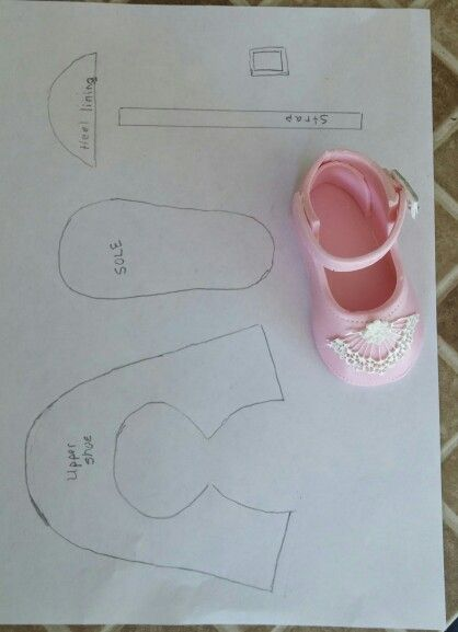 Sugarcraft Baby Shoe Template