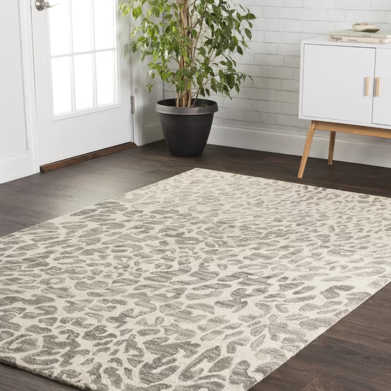 World Menagerie Masai Hand Hooked Wool Gray Ivory Area Rug Reviews Wayfair In 2020 Hooked Wool Hand Hooked Rug World