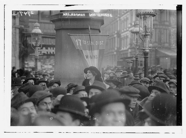 This /LOC photo is dated December 30, 1913. A few weeks later, in January, 1914, Mrs. Norman Whitehouse, an American Suffragette leader, was presented by the American Ambassador, to Kaiser Wilhelm II, at the German court in Berlin. {In August, 1914, WWI broke out.}