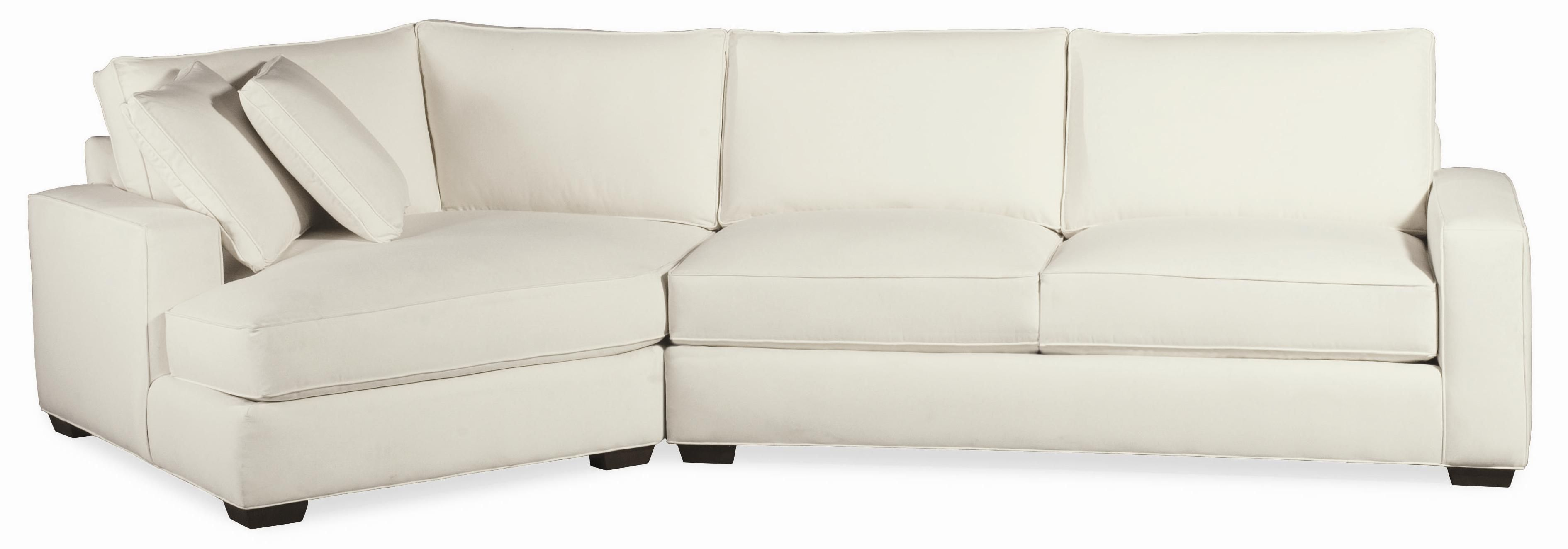Retreat Contemporary Sectional with Tapered Block Feet by