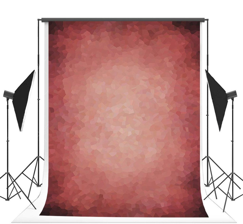 5x7 ft Microfiber Seamless Retro Abstract Backdrop Red Portrait Background for Photographer #backdropsforphotographs
