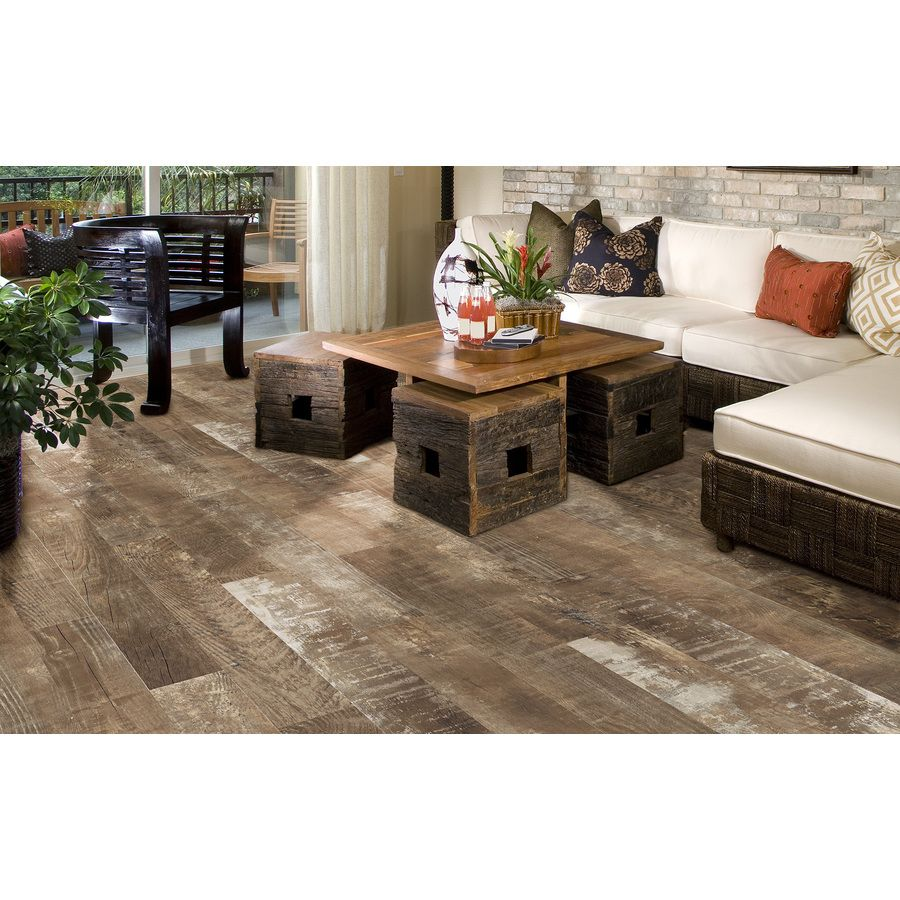 Shop style selections sequoia ballpark glazed porcelain for Indoor outdoor wood flooring