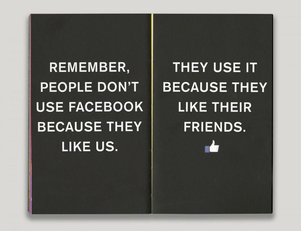 wise words to heed for any company, from @facebook brand book  #KeepItReal #WGBD