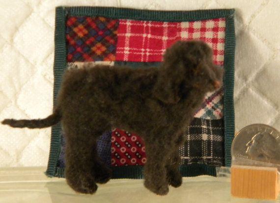 Handmade Original Faux Fur IRISH WATER SPANIEL by BeakStreet, $50.00
