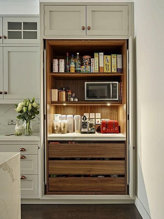 Candy  Breakfast Barcould the fixins for the kids lunches be i Eye Candy  Breakfast Barcould the fixins for the kids lunches be i  A smartly designed pantry sits at eithe...