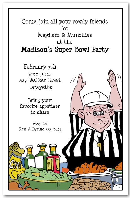 Food Ref Super Bowl Super bowl party Party invitations and Bowls