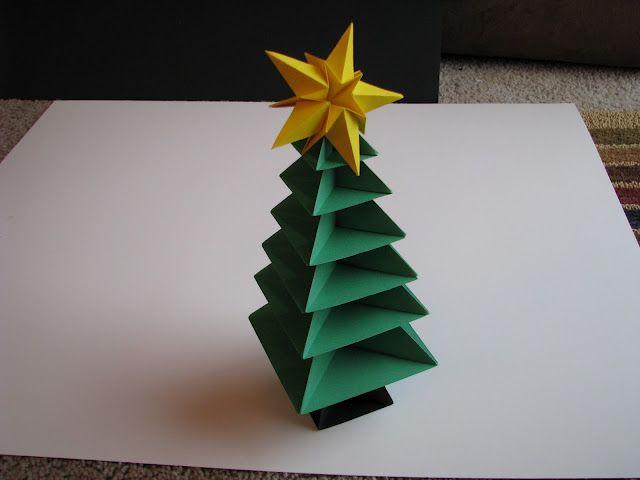 origami christmas tree Christmas ) Pinterest Christmas