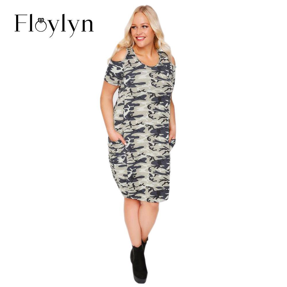 Floylyn plus size new fashion women clothing casual camouflage cold