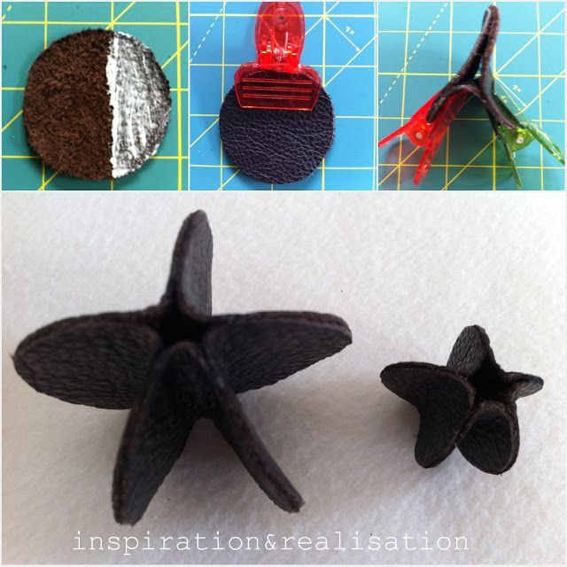 Leather beads for DIY necklace