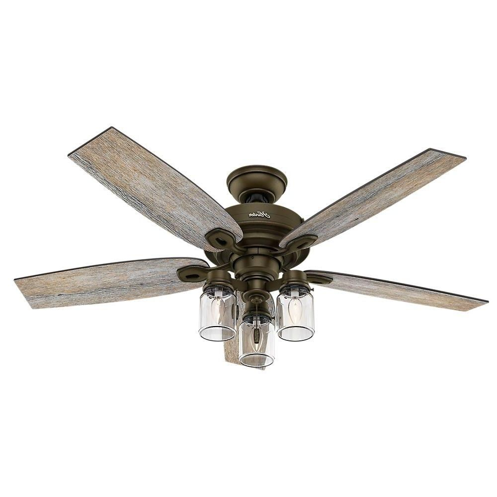 Hugger Ceiling Fan With Bright Light