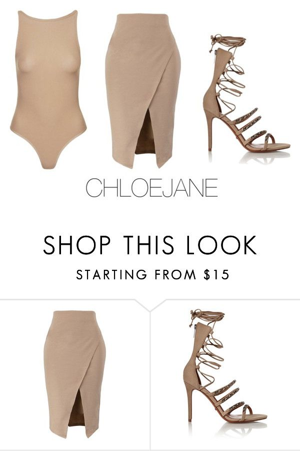 """""""S H A D E S  O F  B E I G E //"""" by chloeeej ❤ liked on Polyvore featuring Schutz and Topshop"""