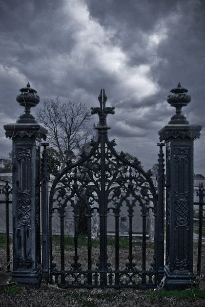 gates to cemetery | Tattoo inspirations | Graveyard tattoo, Old