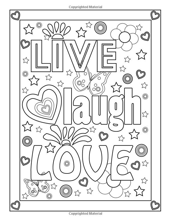 Amazon Com Good Vibes Coloring Book 9781518608933