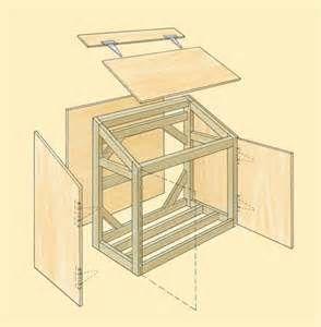 Trash Barrel Shed Plans Pdf Simple Shed Roof Plans Storage Shed Plans Garbage Shed Outdoor Storage Cabinet