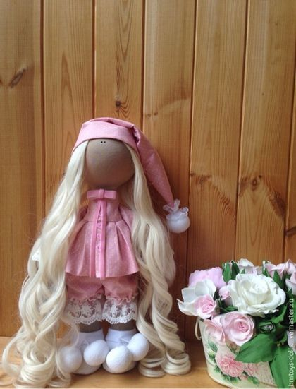 Коллекционные куклы ручной работы. Ярмарка Мастеров - ручная работа. Купить Кукла текстильная ручной работы Sonia.. Handmade.