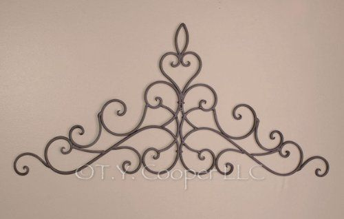 Wrought Iron 31 X 14 Wall Decor Door Topper Ironarboretum Http