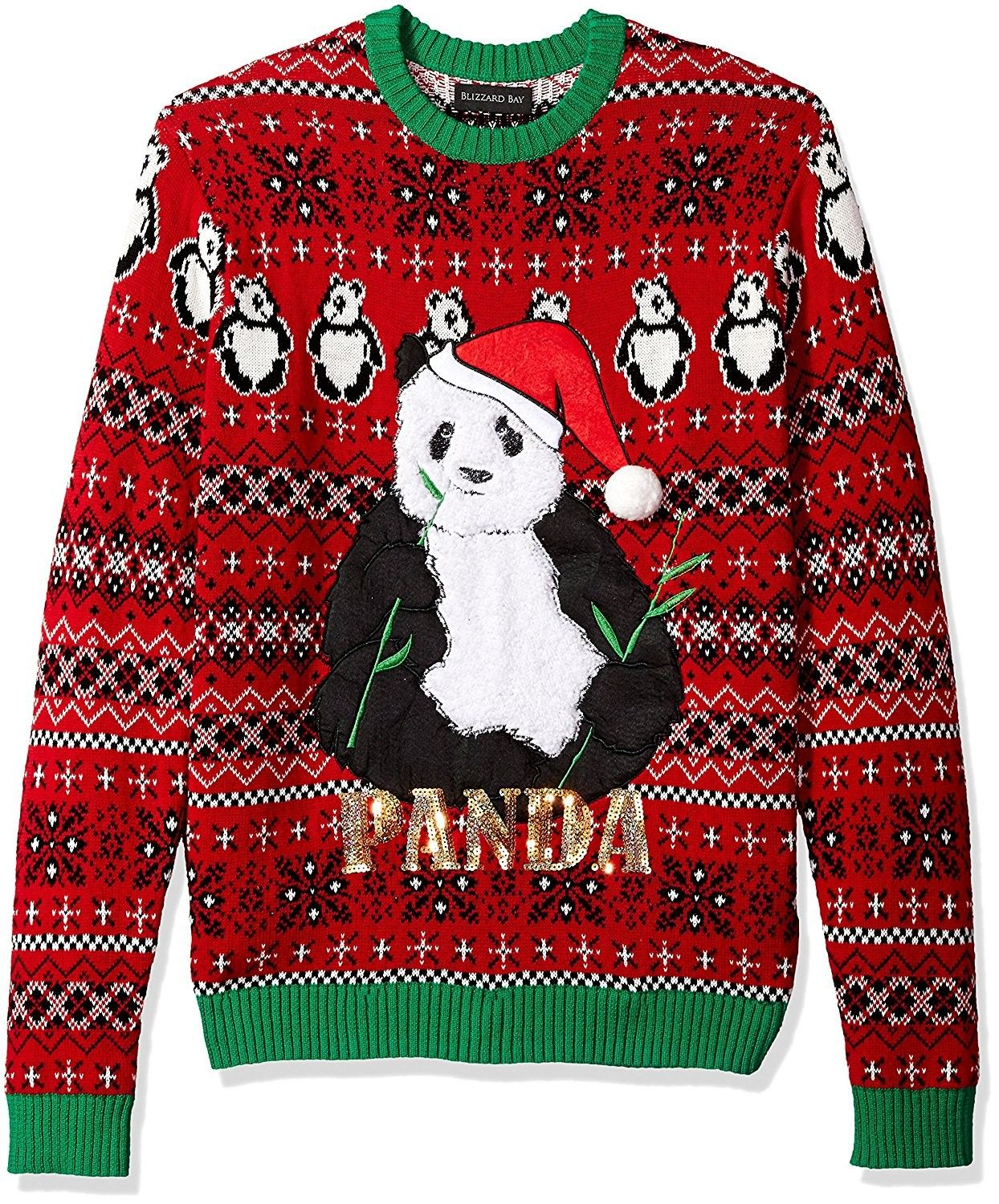 Blizzard Bay Mens Sloth in a Box Ugly Christmas Sweater