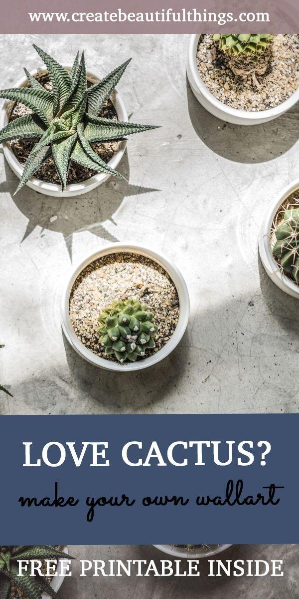 Photo of Cute DIY Cactus Wall Art – Free Printable Inside   Createbeautifulthings