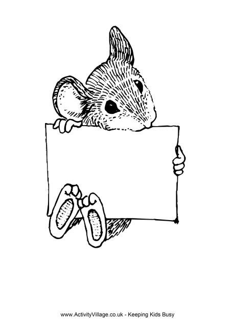 Rat Sign Colouring Page Quilt Labels Coloring Pages Animal