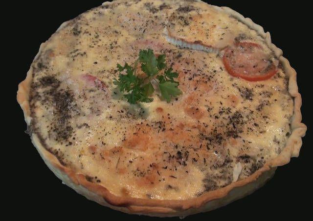 Quiche de tomate y queso de cabra