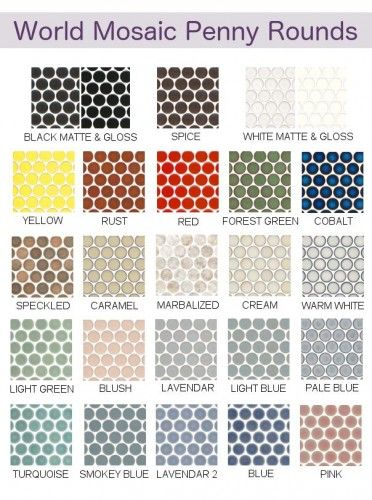 Penny Tile Collection Available At World Mosaic In Vancouver Great For Bathroom Floors