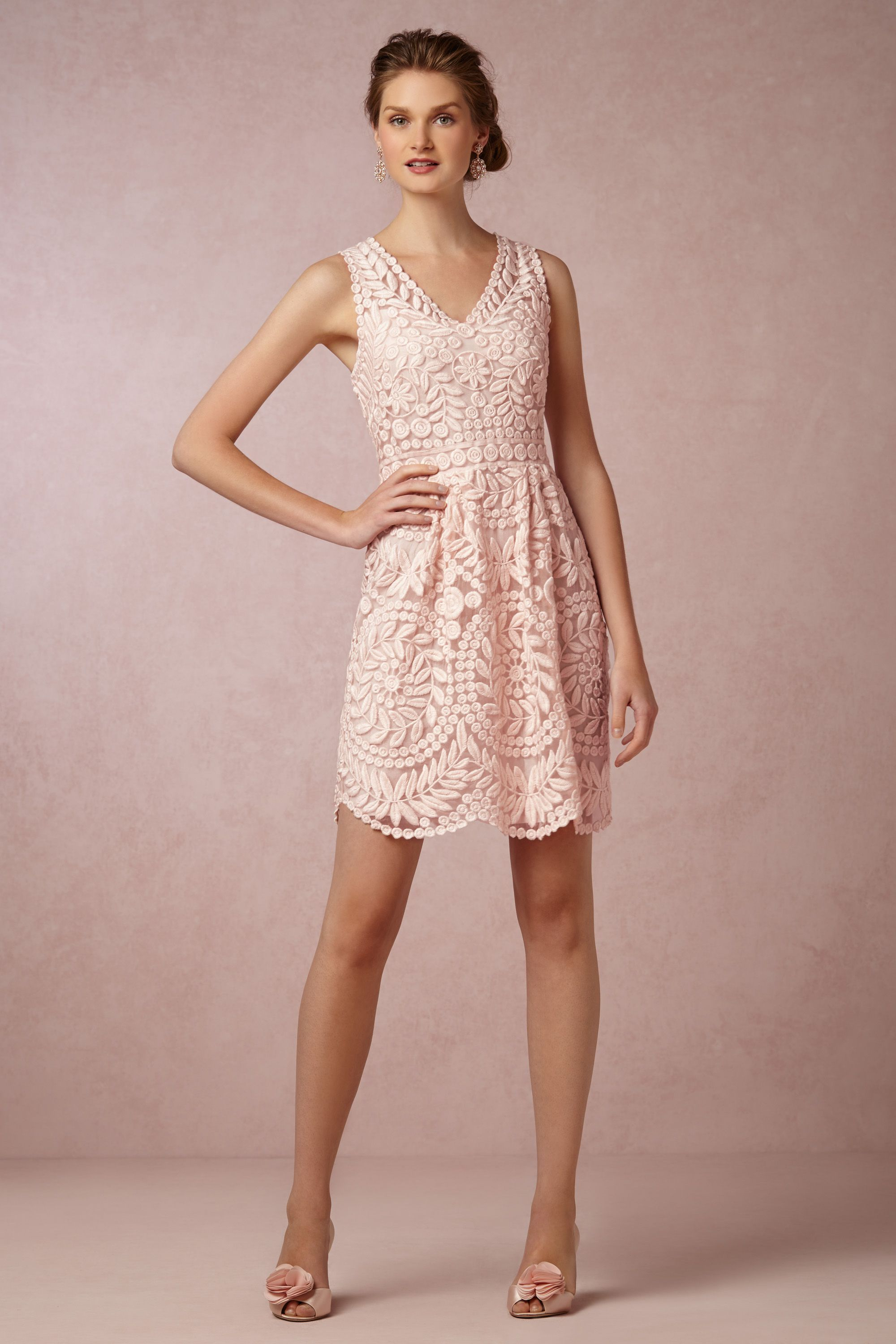 Pale pink dress for wedding guest  Sienna Dress from BHLDN  Vestiti  Pinterest  Pale pink Clothes