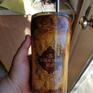 Harry Potter Yeti, Custom Tumbler, Personalized Tumbler, Glittered