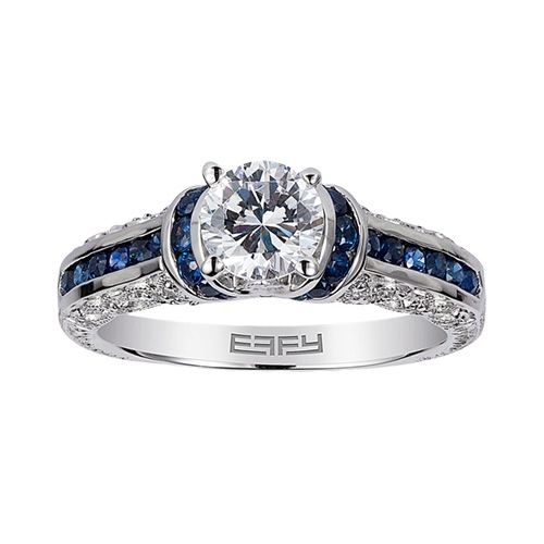 Fred Meyer Jewelers EFFY 12 ct Diamond Sapphire Engagement