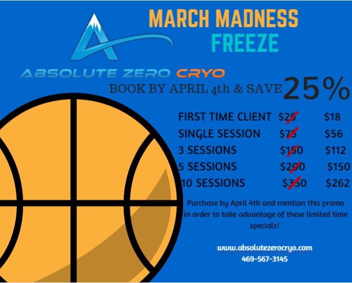 Schedule a March Madness FREEZE by April 4th and take