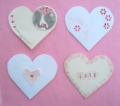 recycle old envelopes ... i have done  this and it makes heart pockets.... fun