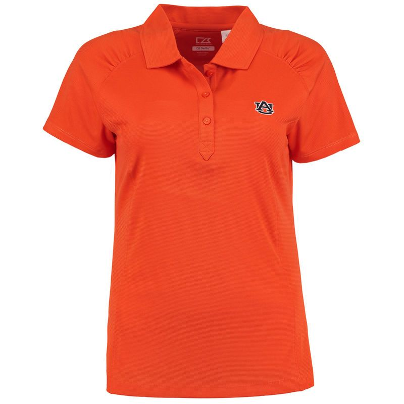 Auburn Tigers Cutter & Buck Women's DryTec Northgate Polo - Orange