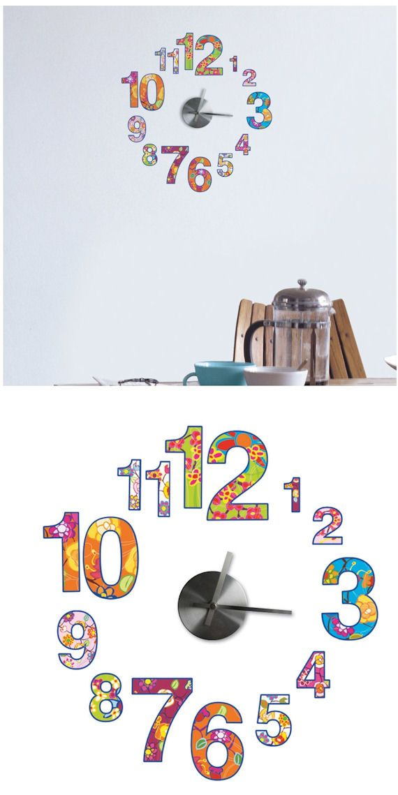 Colorful Clock And Wall Decals   Wall Sticker Outlet