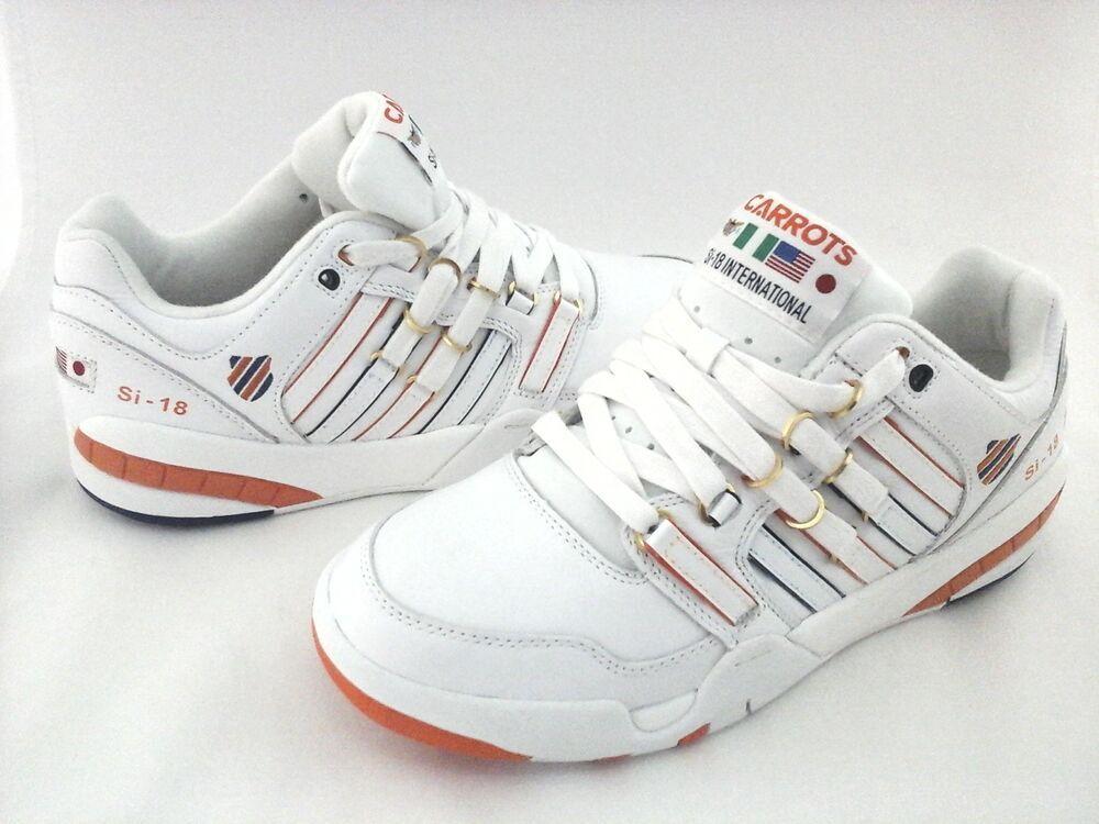 2ba75f1108556e KSWISS Carrots Sneakers Si-18 International White Shoes Mens US 8.5 EU 42.5  RARE