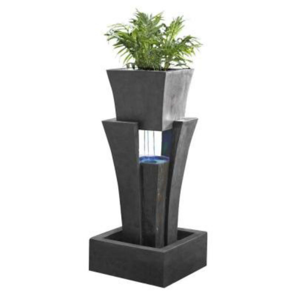 Backyard Water Fountains Indoor Home Large Commercial With Planter ...