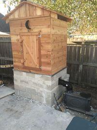 Cedar smokehouse … (With images)   Smoke house diy ...