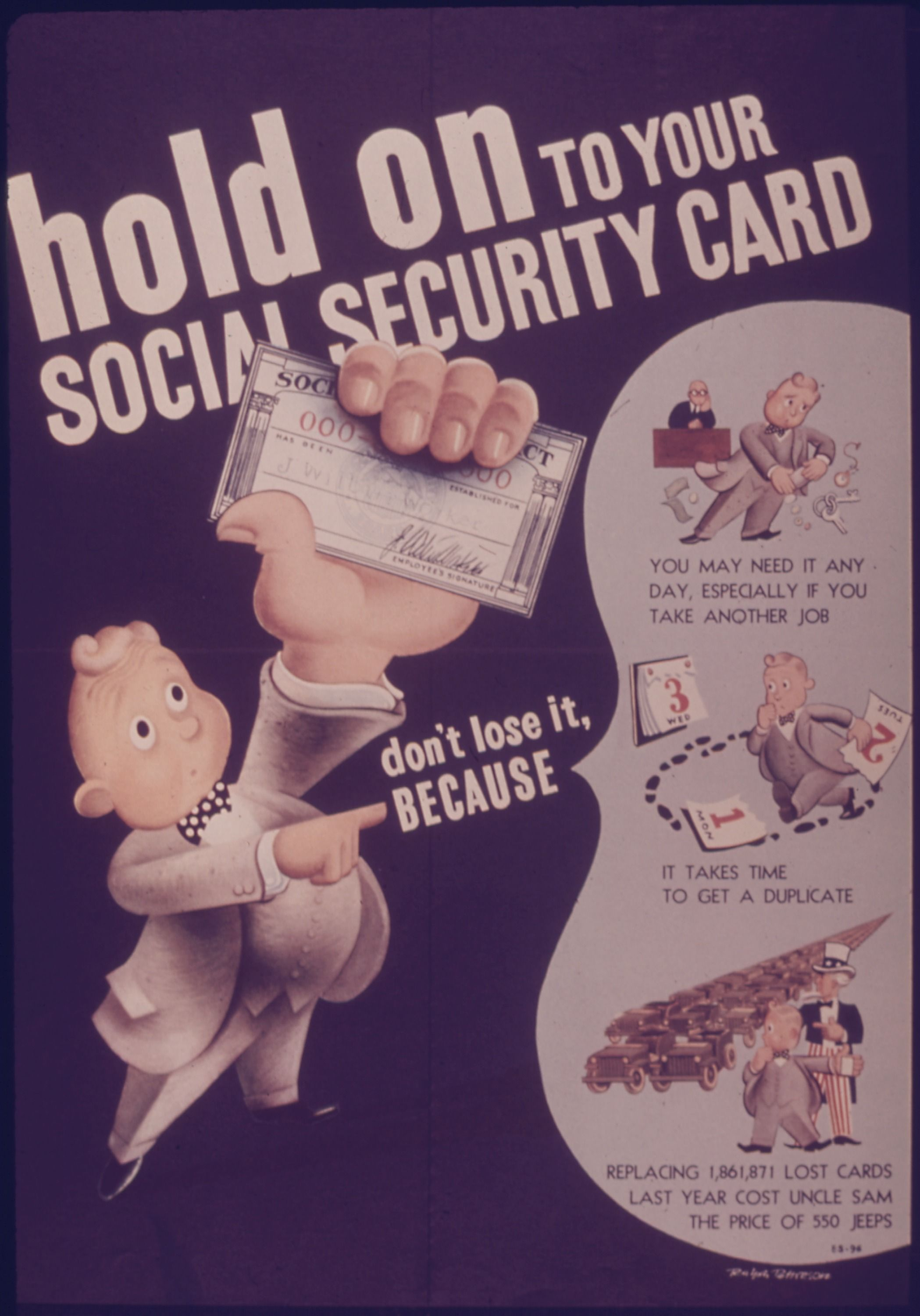 Poster Hold On To Your Social Security Card  Ssdi