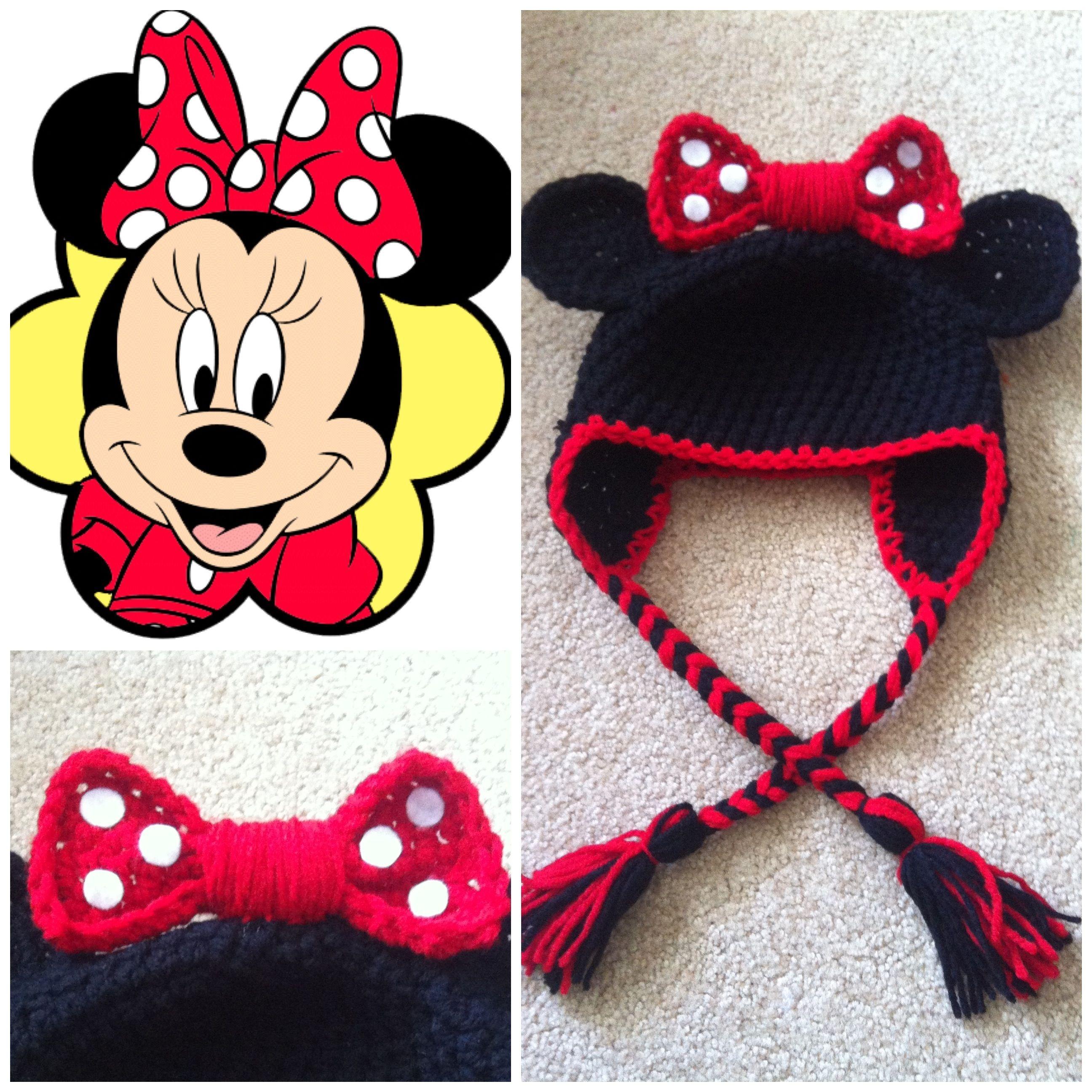 Crochet Minnie Mouse Beanie | | el tejido de mi madre | | Pinterest ...