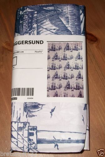 Details About Ikea Aggersund Shower Curtain Nautical