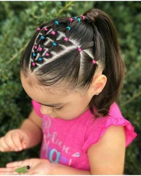Escolar Divertido Trenzas En 2019 Peinados Infantiles Peinados