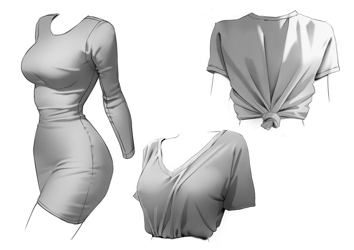 Wildering : Few more studies.…  #clothesdrawing