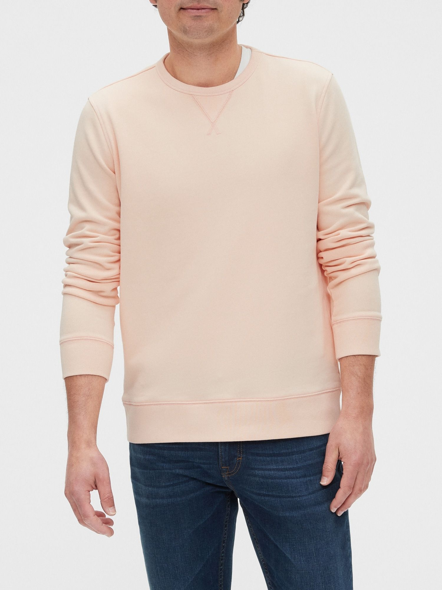 French Terry Sweatshirt Banana Republic Factory Sweatshirt Fashion Terry Sweatshirt Pullover [ 2000 x 1500 Pixel ]