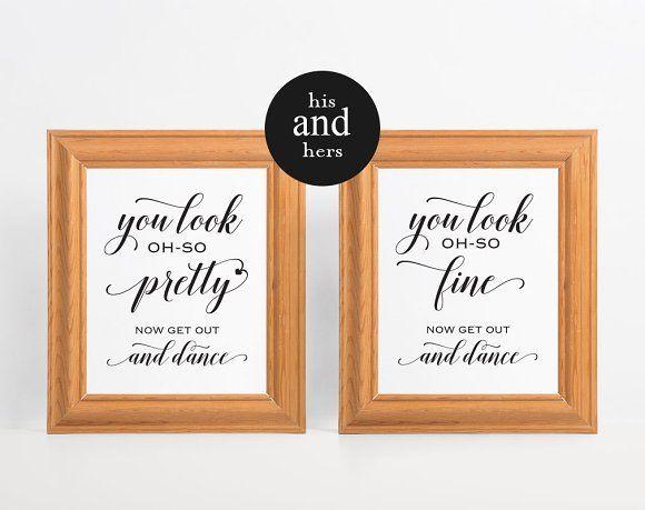 Best Wedding Bathroom Signs CreativeWork247 - Fonts, Graphics - best of wedding invitation design fonts