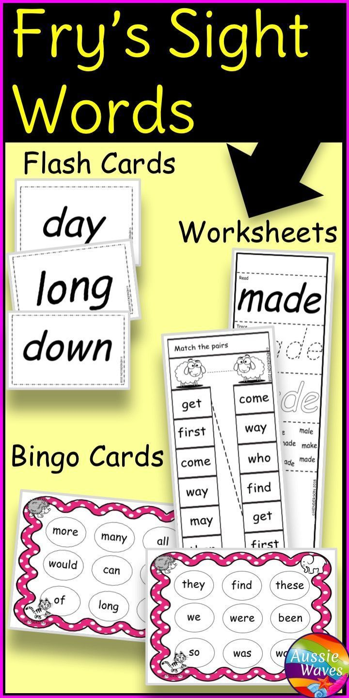Fry's Sight Words Bingo Games and Activities First 100