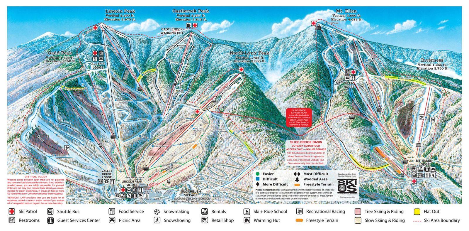 Lincoln Peak Ski Trip Resort Skiing