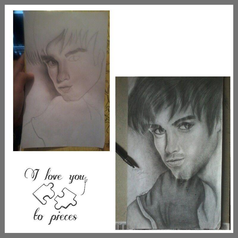 Mi Dibujo Que Hice De Enrique Iglesias Male Sketch Male Art