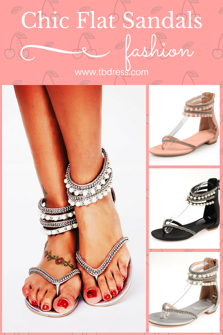 97fadd4eedc2 Women's flat sandals features with rhinestone and beads decoration,ankle  strap and beading around,thong design is suprior comfort and stlish,they  are great ...