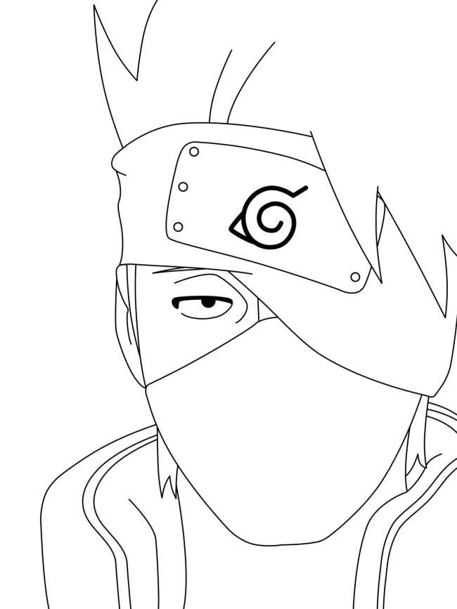Tổng hợp các mẫu tranh tô màu Naruto cực đẹp Naruto sketch
